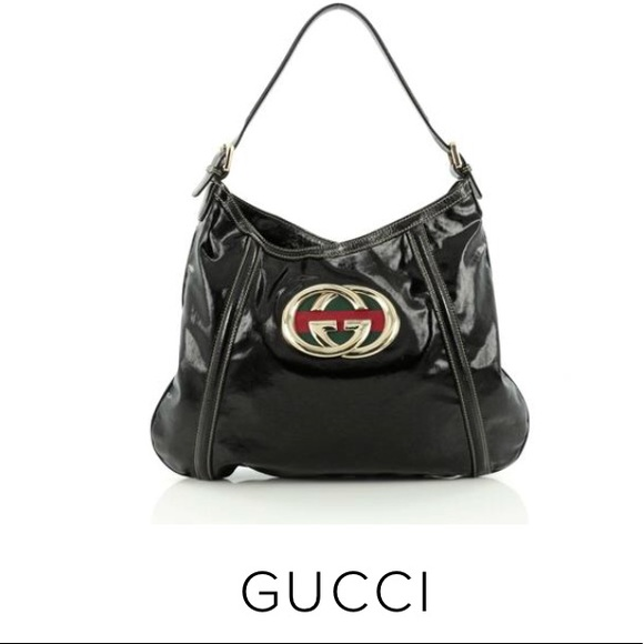 589cb13fa21c Gucci Bags | Black Leather Medium Britt Hobo Bag | Poshmark